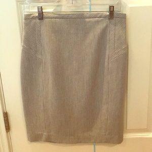 Express pinstripe pencil skirt
